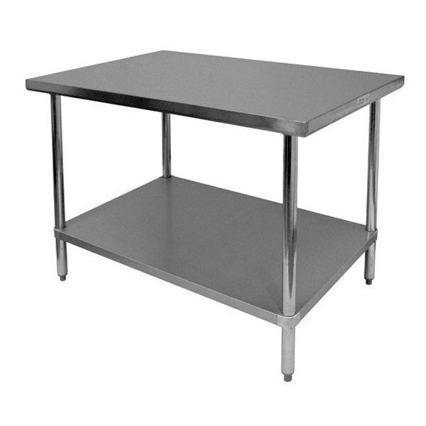 New 18 x 48 commercial stainless steel kitchen work prep table 18 x 48 nsf ebay - Industrial kitchen table stainless steel ...