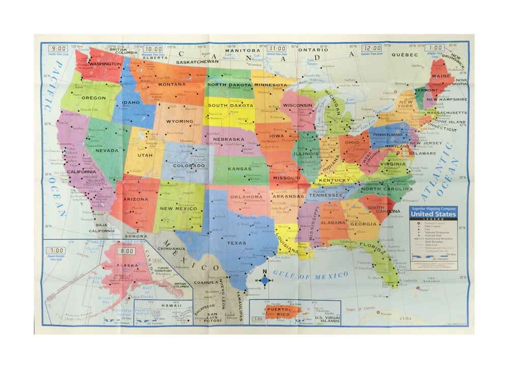 United States Us Wall Map  Usa Large Poster