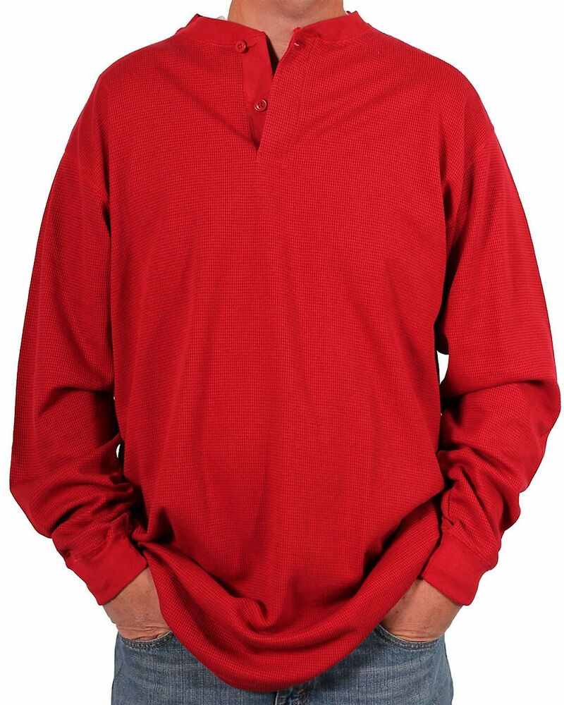 Farmall ih men 39 s tall heavy long sleeve thermal henley for Men s thermal henley long sleeve shirts