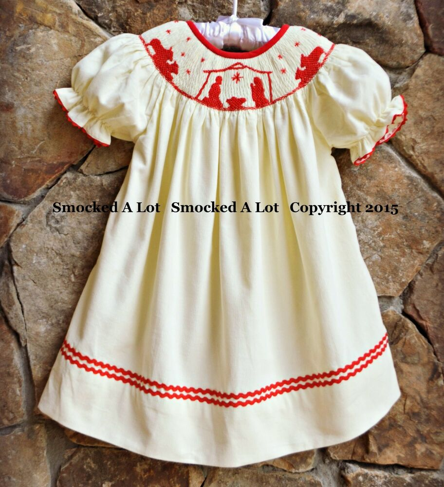 Red Corduroy Baby Christmas Dress 2014
