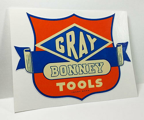 Gray Bonney Tools Vintage Style Decal Vinyl Sticker Rat