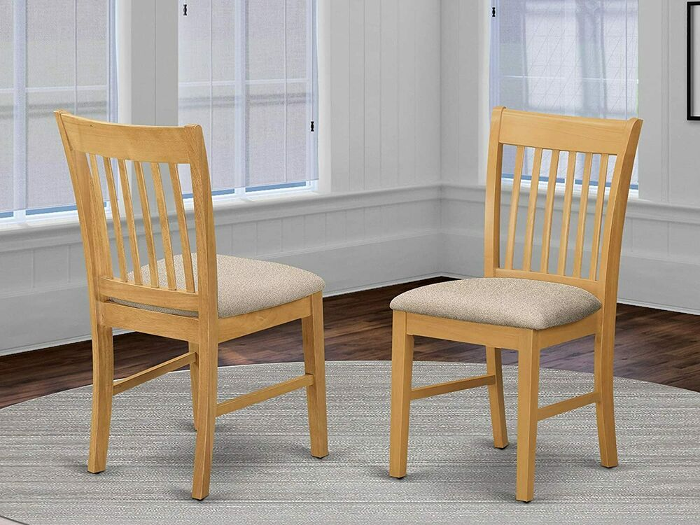 Set of 6 norfolk dinette kitchen microfiber upholstered for Oak dining room chairs