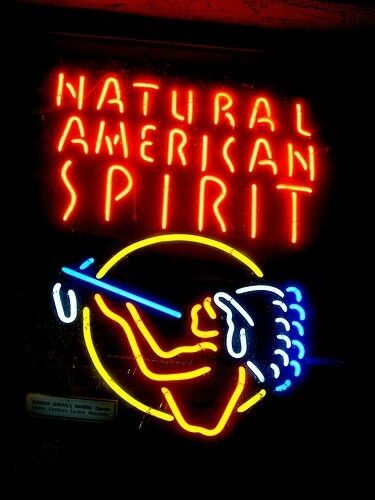 natural american spirit cigarettes tobacco ad neon light sign no shipping ebay. Black Bedroom Furniture Sets. Home Design Ideas