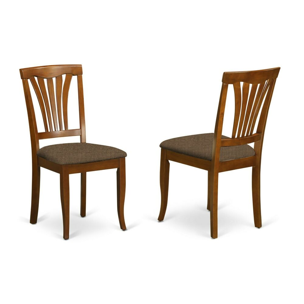 set of 2 avon kitchen dining chairs w microfiber upholstered seat