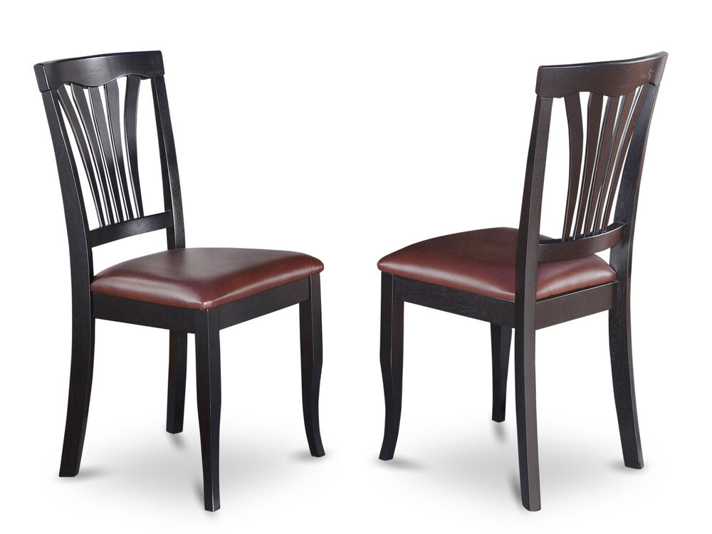 Set of 2 avon dinette kitchen dining chairs with faux for Fake kitchen set