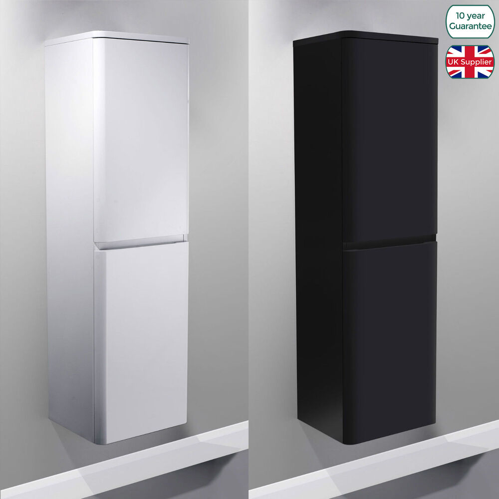 high gloss bathroom wall cabinet wall hung mdf black white gloss bathroom side cabinets 16312
