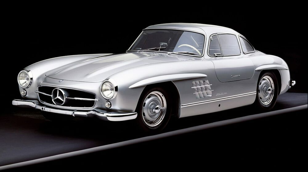 Silver mercedes benz 300sl 42 x 24 large wall poster for Mercedes benz poster