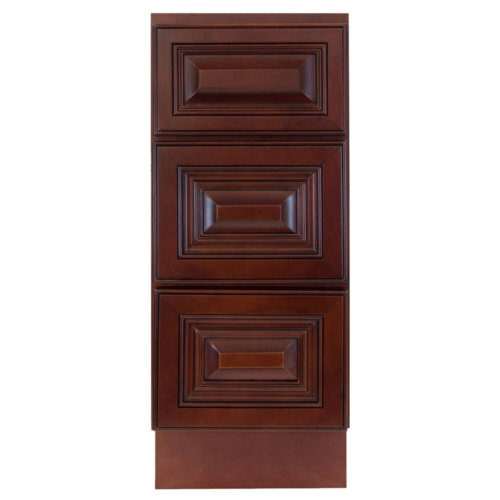 bathroom sink cabinets with drawers lesscare cherryville 12 quot bathroom maple vanity drawer base 22312