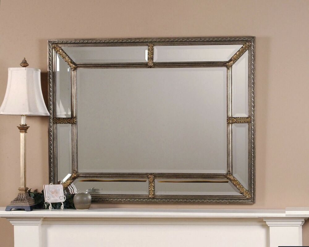 Gorgeous extra large mirror framed wall mirror ebay for Large framed mirrors for walls