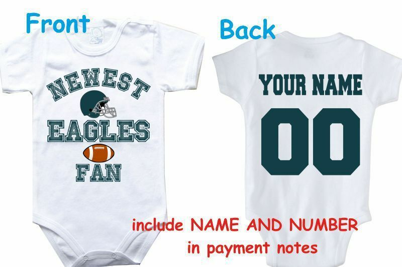 d12df97fa0a Details about bodysuit Eagles customized personalized NAME NUMBER  philadelphia baby