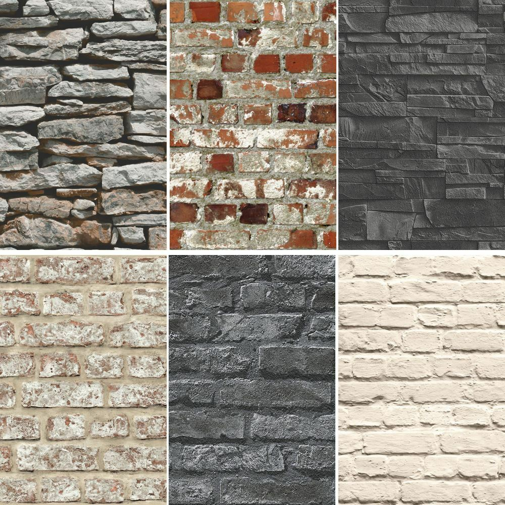 New brick effect faux realistic brick stone wall pattern for Brick wall mural