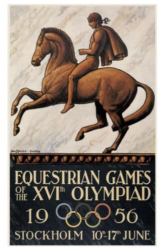 Stockholm 1956 Equestrian Olympic Games Official Olympic
