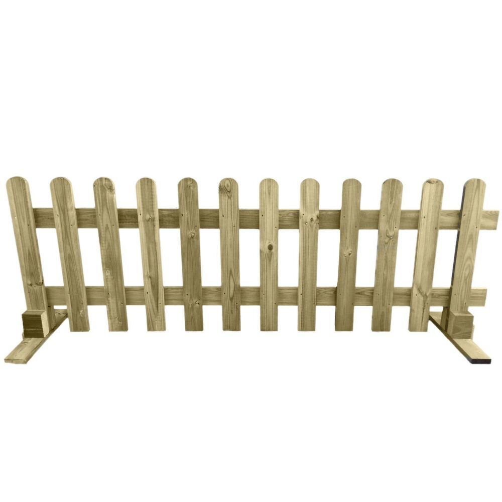 Portable Freestanding Treated Wooden 6ft Picket Fence