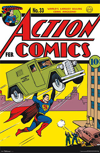 Comic Book Cover Wall Art : Poster action comics superman official dc