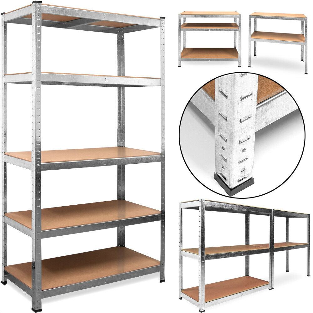 heavy duty shelving rack storage steel 180 x 90 x 40cm 5. Black Bedroom Furniture Sets. Home Design Ideas