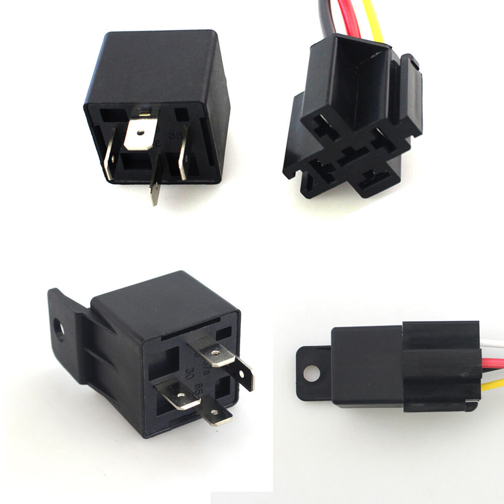 Car 40a Amp Dc 12v Relay Kit Spst For Fan Fuel Pump Light