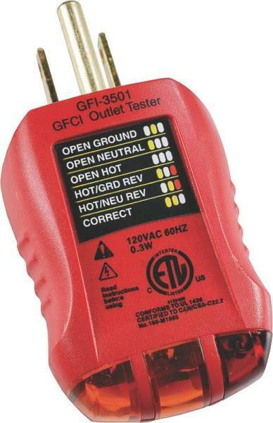 Ground Fault Indicator Testers : New gb gfi gfci receptacle electrical plug outlet