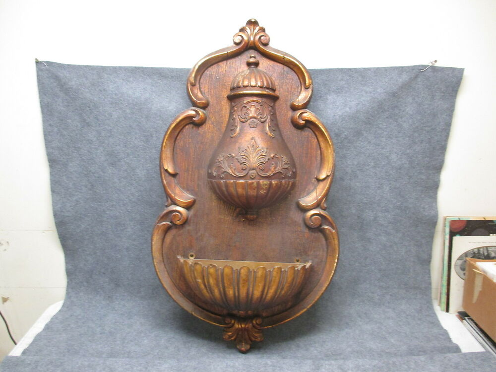 Large SYROCO Wall Art Faux Fountain Hanging Wall Pocket