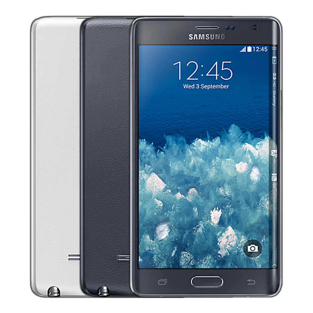 samsung galaxy note edge sm n915v 32gb verizon unlocked white black ebay. Black Bedroom Furniture Sets. Home Design Ideas
