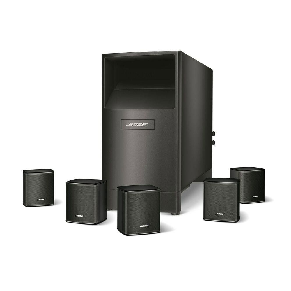 bose acoustimass 6 series v home theater speaker system black ebay. Black Bedroom Furniture Sets. Home Design Ideas