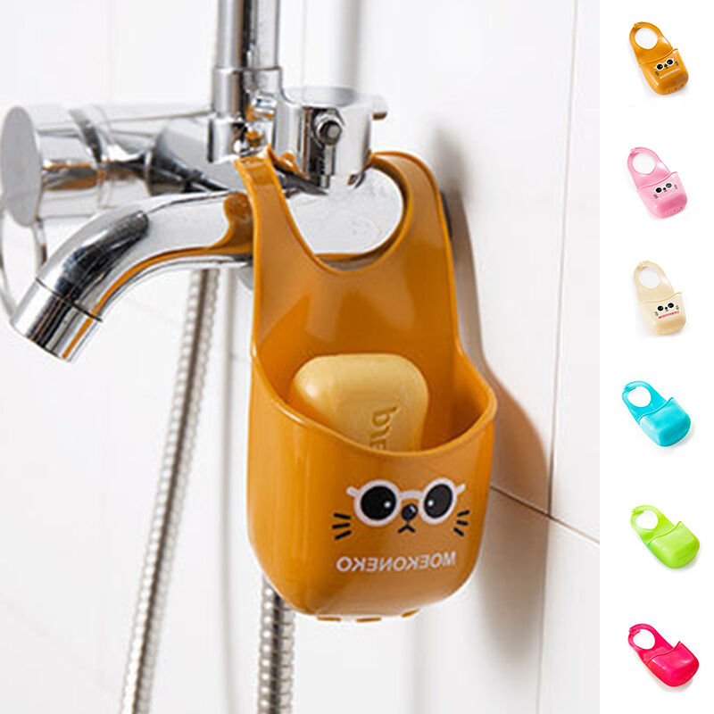 Portable Kitchen Sink Sponge Holder Hanging Strainer