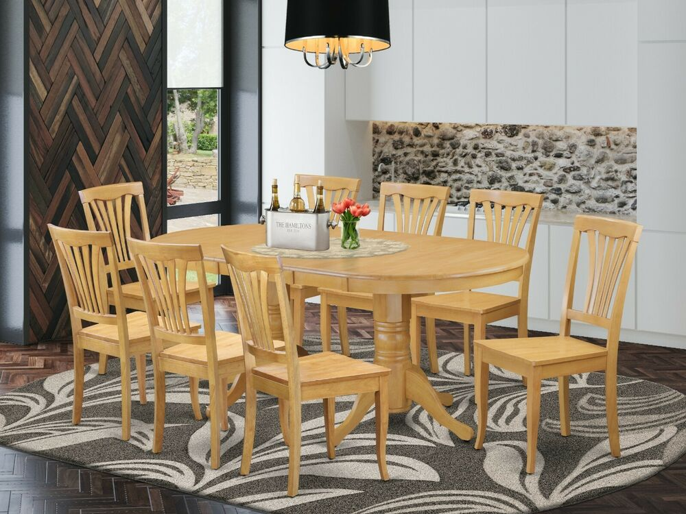 east west 9pc dining set vancouver oval table 8 avon