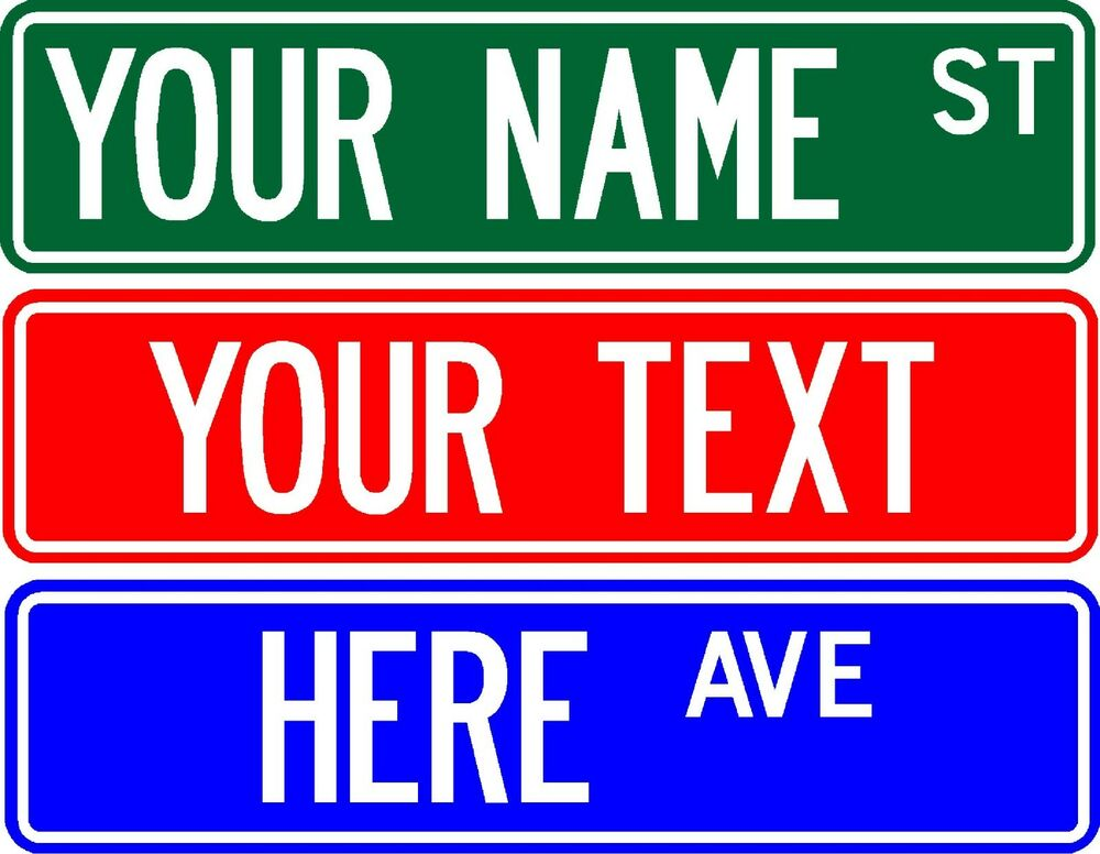 Personalized Custom Street Sign 6 X24 Make Your Own Sign