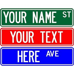 Kyпить PERSONALIZED CUSTOM STREET SIGN, 6