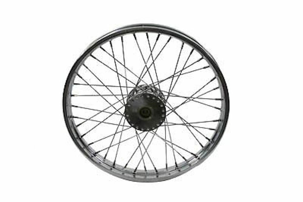 21 x 2 15 chrome front spoke wheel 1973 harley ironhead