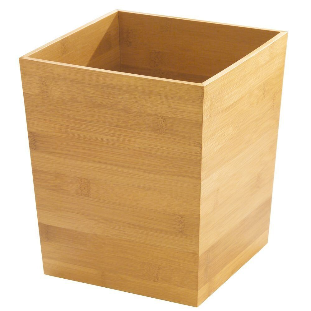 Bathroom waste basket trash can bedroom office home decor umbrella holder bamboo ebay for Bedroom waste baskets decorative
