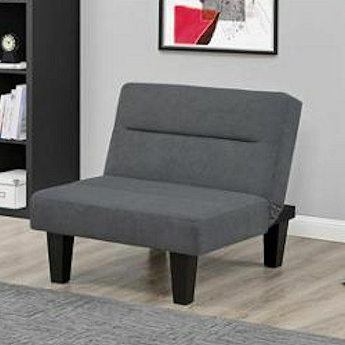 Gray Sleeper Chair Convertible Lounger Modern Fold Out Dorm Lounge Furniture