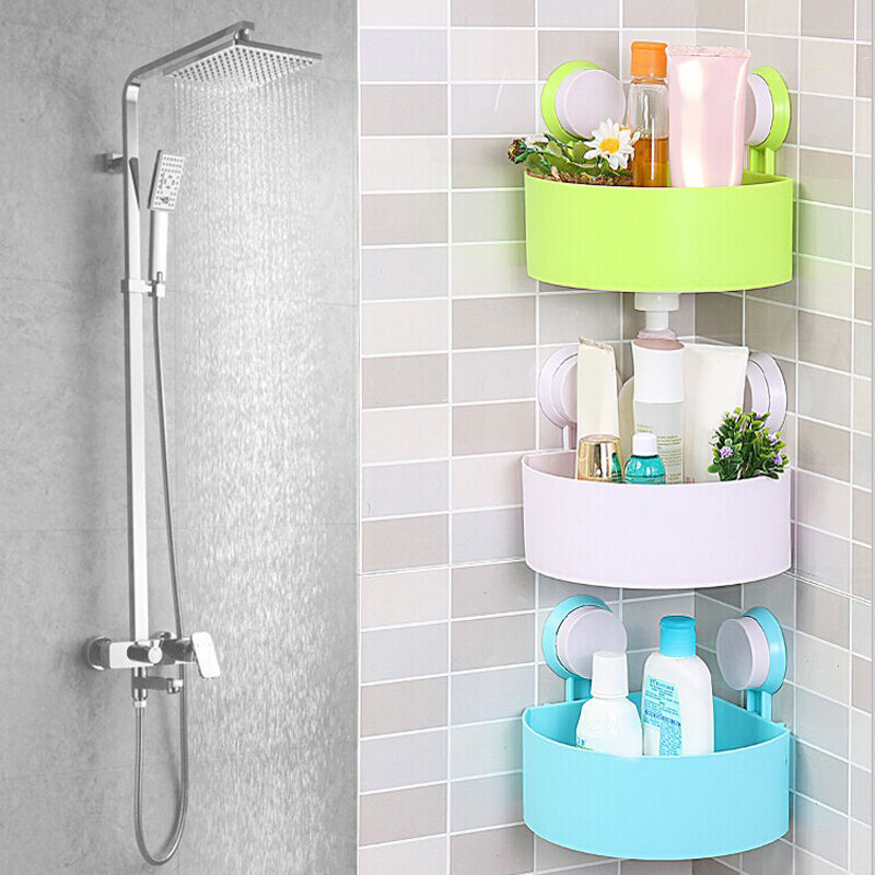 Home Bathroom Corner Storage Rack Organizer Shower Shelf