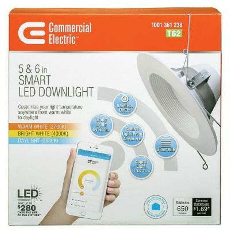 1 Pack Commercial Electric T62 5 In Or 6 In Led Smart