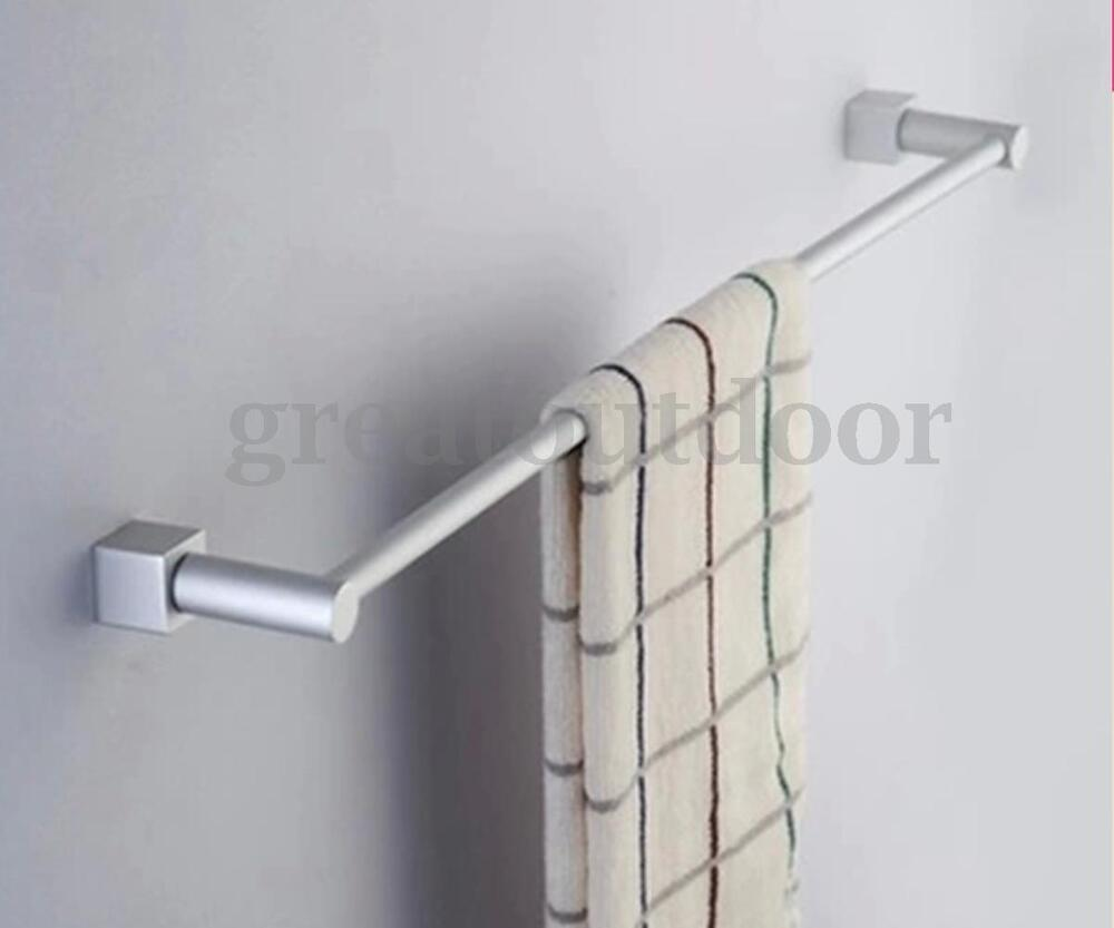 24 aluminum wall mounted bathroom towel rack holder