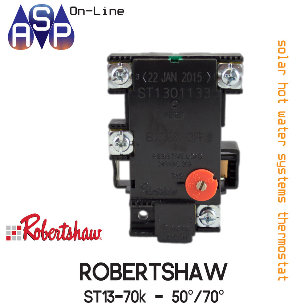 Solar Solahart Boosted Hot Water Thermostat Robertshaw 50