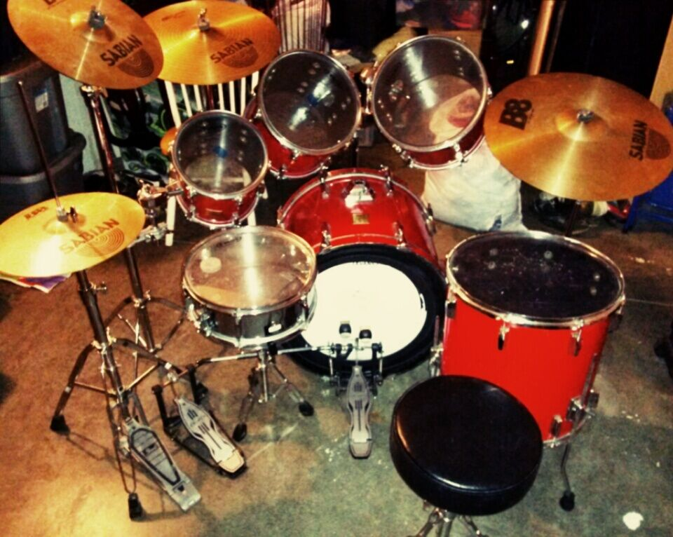 Candy Red Yamaha Power V Drum Set Ebay