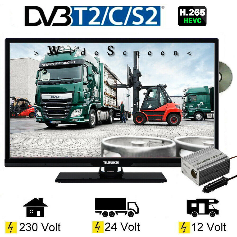 telefunken l24h274 dvd led tv 24 zoll dvb s s2 t2 c dvd. Black Bedroom Furniture Sets. Home Design Ideas