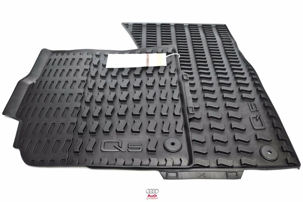 Audi Q5 Sq5 Pair Front Rubber Floor Mats Set Black All