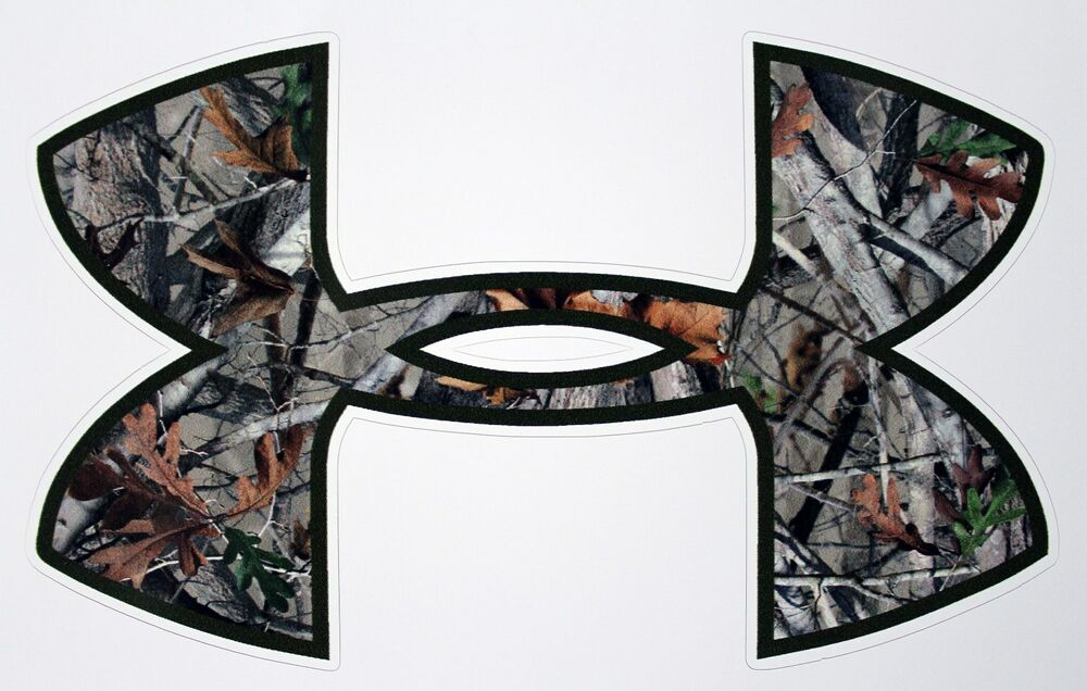 Under Armour Tree Camo Camouflage Car Window Decals
