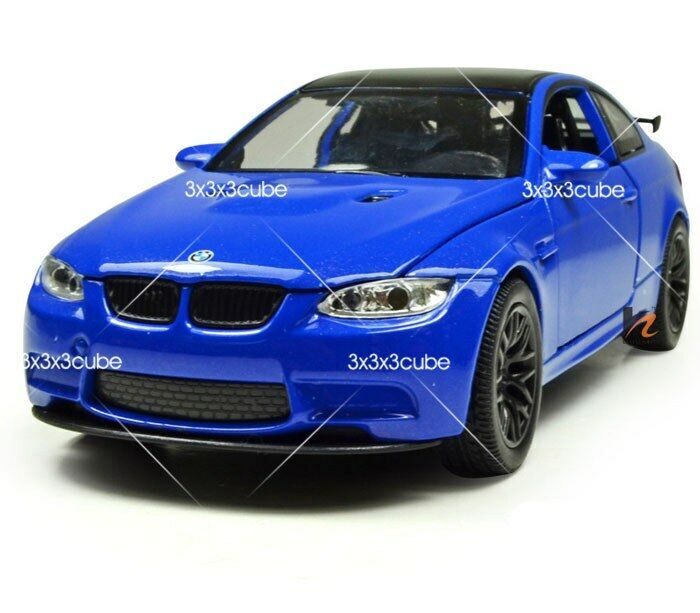 Blue 1 32 Bmw M3 Gts Diecast Model Car Pullback With Sound
