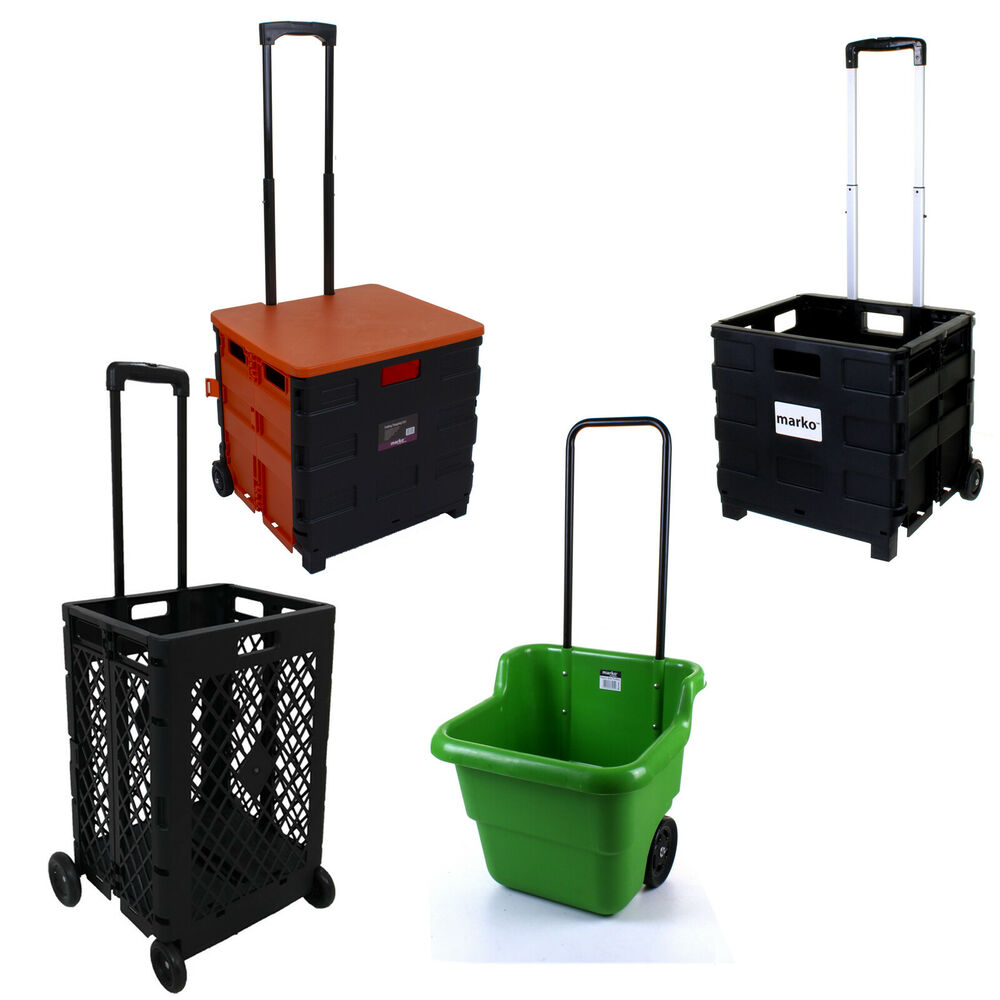 folding shopping cart plastic heavy duty crate trolley storage box wheels boot ebay. Black Bedroom Furniture Sets. Home Design Ideas