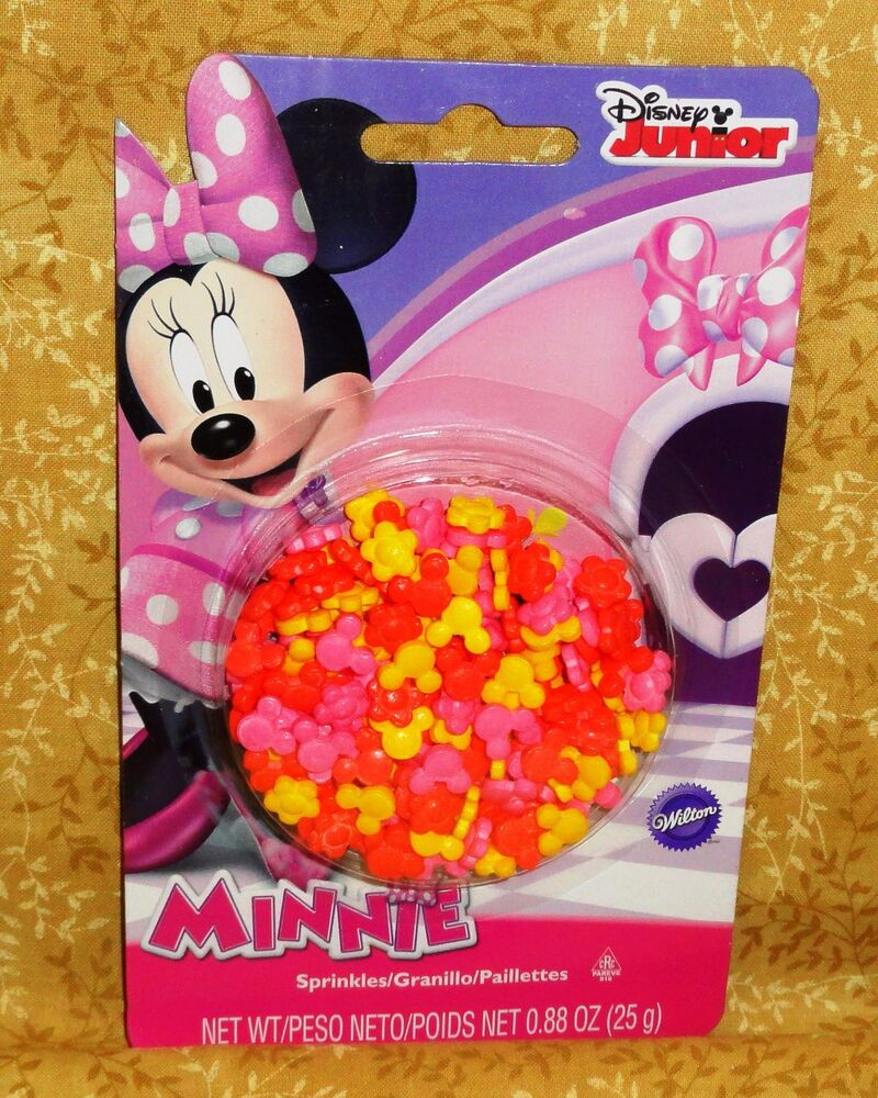 Minnie Mouse Sprinkles,Candy Decorations, Cupcake Toppers ...