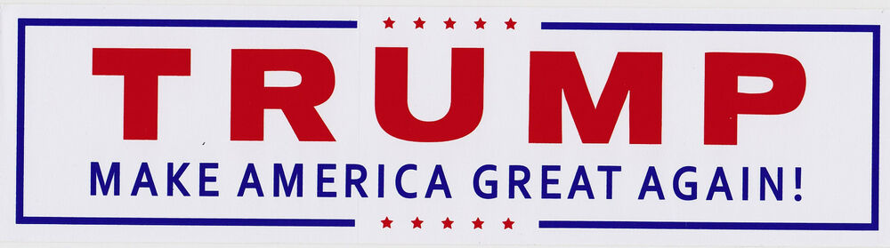 Official President Donald Trump Campaign Bumper Sticker Make America ...