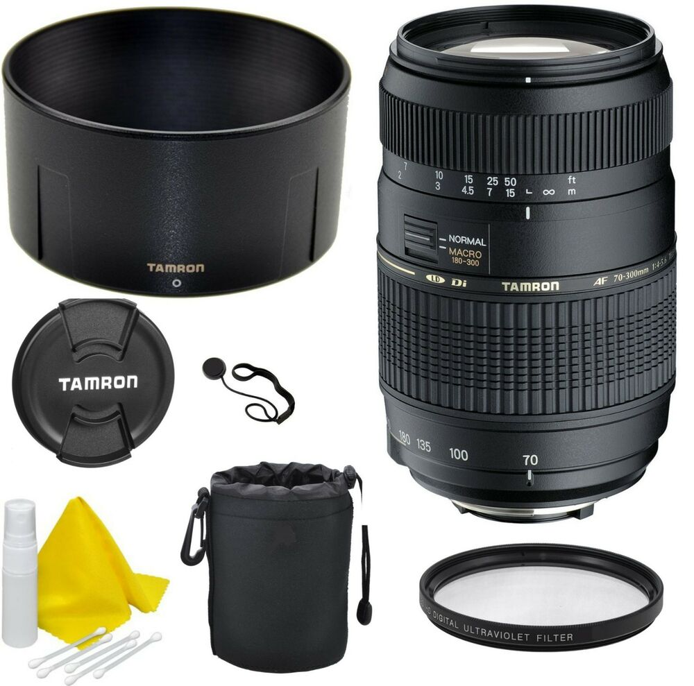 tamron 70 300mm f 4 0 5 6 ld di macro lens for canon ef s mount celltime kit 725211177111 ebay. Black Bedroom Furniture Sets. Home Design Ideas