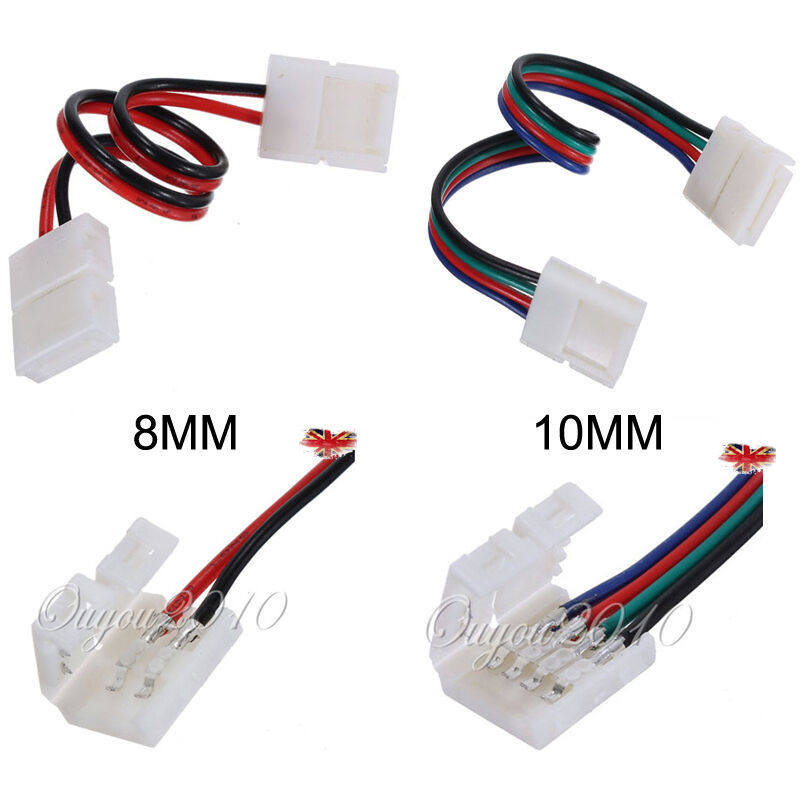 8mm 2pin 10mm 4pin Led Strip Light Connector Adapter Cable