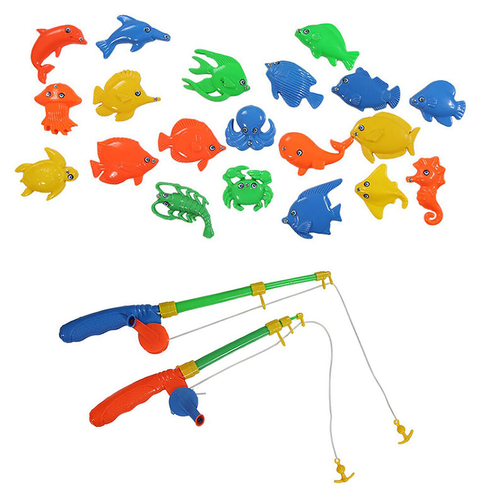 Cool magnetic fishing game toy rod fish hook catch kids for Cool fishing games