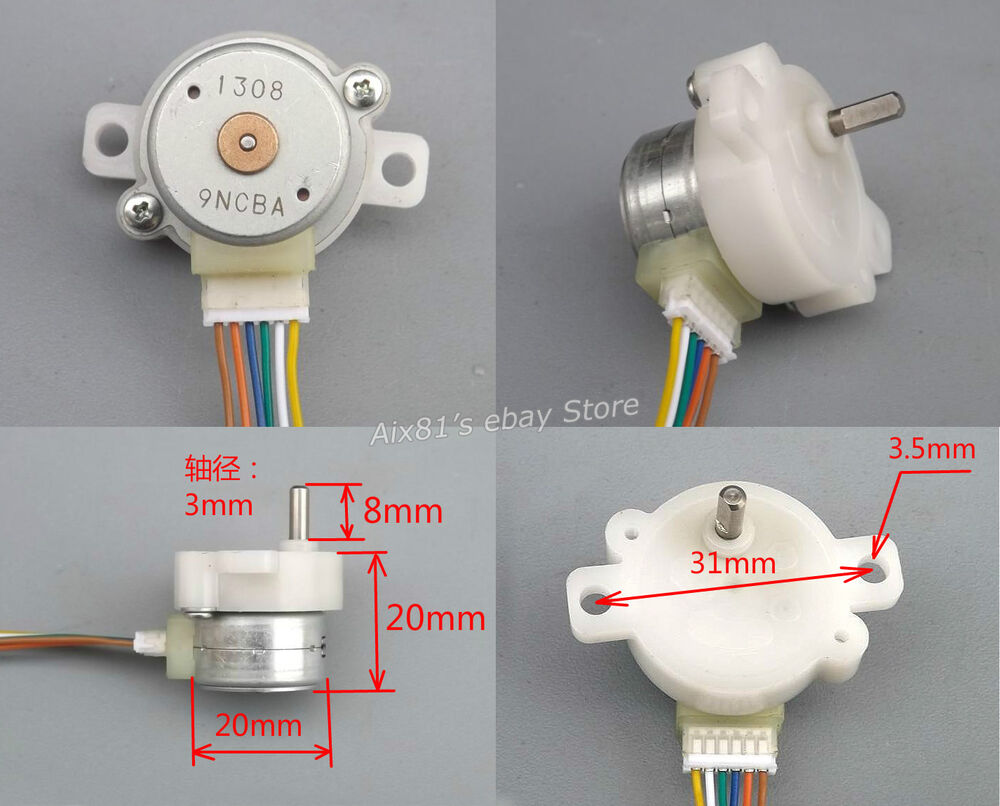 Dc 12v 2 Phase 4 Wire Stepper Motor Full Metal Reduction