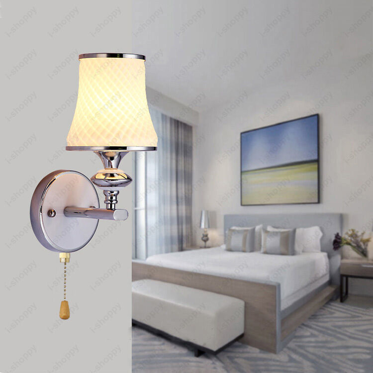 Bedroom Wall Sconces With On Off Switch : Indoor 3W/5W LED Wall Fixture Light Pull Switch/N Lamp Bedroom Vestibule Hallway eBay