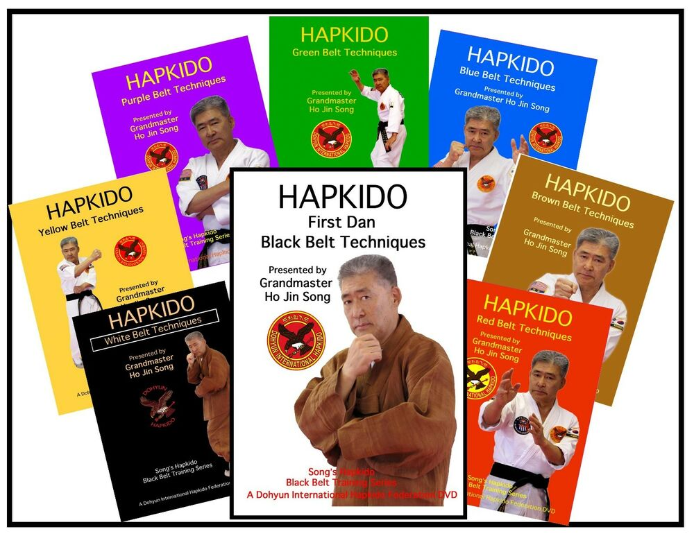 BLACK BELT HAPKIDO SELF DEFENSE DVD SYSTEM GRAND MASTER HO JIN SONG ...