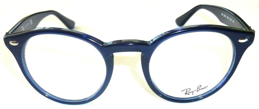 Plastic Frame Glasses Crooked : RAY BAN EYEGLASS FRAMES RB 2180-V 2013 47-21-145 Blue NEW ...